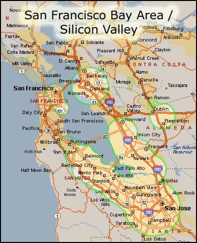 California Highways (www.cahighways.org): San Francisco ...   Bay Area Map Los Angeles